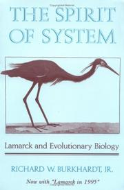 Cover of: The spirit of system | Richard W. Burkhardt