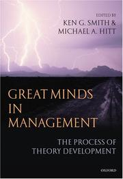 Cover of: Great minds in management