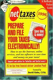 Cover of: Net taxes