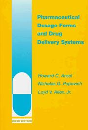 Cover of: Pharmaceutical dosage forms and drug delivery systems