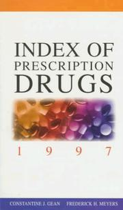 Cover of: Index of prescription drugs 1997