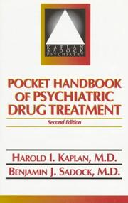 Cover of: Pocket handbook of psychiatric drug treatment