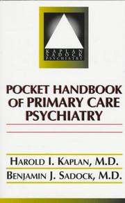 Cover of: Pocket handbook of primary care psychiatry