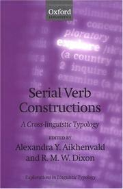 Cover of: Serial Verb Constructions |