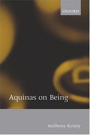 Cover of: Aquinas on Being