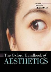 Cover of: The Oxford Handbook of Aesthetics
