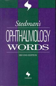 Cover of: Stedman's ophthalmology words