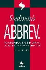 Cover of: Stedman's Abbreviations, Acronymns & Symbols (Stedman's Word Book Series)