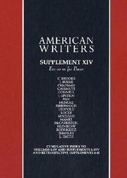 Cover of: American Writers - Supplement XIV (American Writers) | Jay Parini