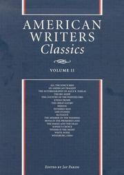 Cover of: American Writers Classics, Vol. 2 | Jay Parini