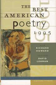 Cover of: The Best American Poetry 1995