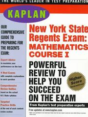 Cover of: Kaplan New York State Regents Exam | Kaplan Publishing