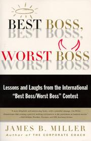 Cover of: Best boss worst boss | James B. Miller