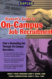 Cover of: Student's guide to on-campus job recruitment