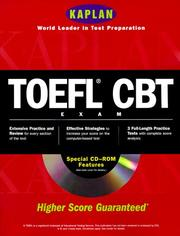 Cover of: Kaplan Toefl Cbt With Cd Rom | Kaplan Publishing