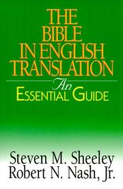 Cover of: The Bible in English translation