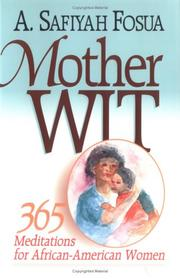 Cover of: Mother wit