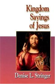 Cover of: Kingdom Sayings of Jesus (20/30 Bible Study for Young Adults) | Denise L. Stringer