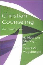 Cover of: Christian Counseling: An Introduction