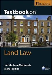 Cover of: Textbook on Land Law | Judith-Anne MacKenzie