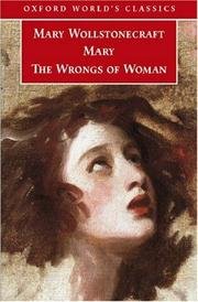 Cover of: Mary and The Wrongs of Woman