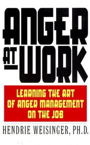 Cover of: Anger at work