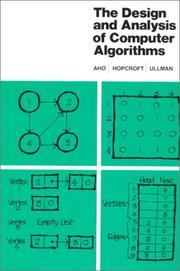 Cover of: The Design and Analysis of Computer Algorithms