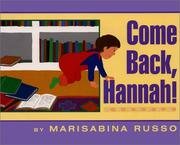 Cover of: Come back, Hannah!