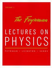 Cover of: The Feynman Lectures on Physics: Commemorative Issue Vol 1 | Richard Phillips Feynman, Robert B. Leighton, Matthew Sands