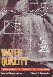 Cover of: Water quality: characteristics, modeling, modification