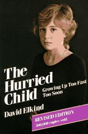Cover of: The hurried child