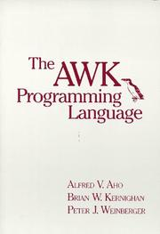Cover of: The AWK programming language