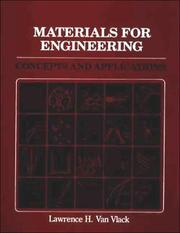 Cover of: Materials for engineering