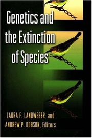 Cover of: Genetics and the Extinction of Species |