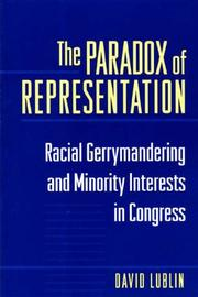 Cover of: The paradox of representation