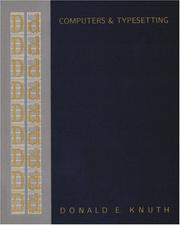 Cover of: Computers & Typesetting, Volume D: Metafont: The Program (Computers and Typesetting, Vol D)