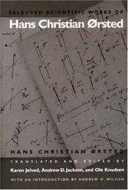 Cover of: Selected scientific works of Hans Christian Ørsted