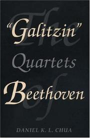 "Cover of: The "" Galitzin"" quartets of Beethoven"