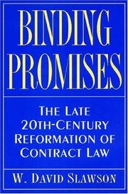 Cover of: Binding promises