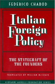 Cover of: Italian foreign policy | Federico Chabod