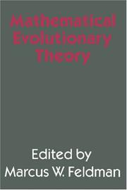 Cover of: Mathematical evolutionary theory |