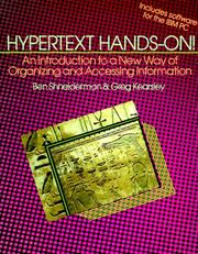 Cover of: Hypertext hands-on!