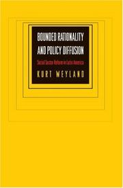 Cover of: Bounded Rationality and Policy Diffusion | Kurt Weyland