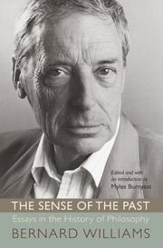 Cover of: The Sense of the Past | Bernard Williams