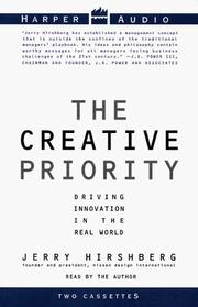 Cover of: The Creative Priority | Jerry Hirshberg