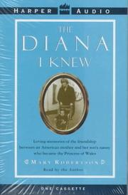 Cover of: The Diana I Know
