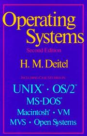 Cover of: An introduction to operating systems | Harvey M. Deitel