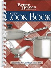 Cover of: New Cook Book (Better Homes & Gardens New Cookbooks) |