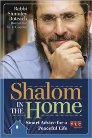 Cover of: Shalom in the Home