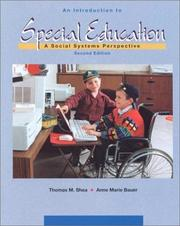 Cover of: An Introduction To Special Education | Thomas M. Shea